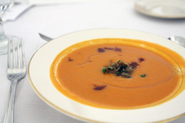 Recipe for sweet potato bisque vegan soup